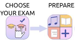 choose exam and preparation page
