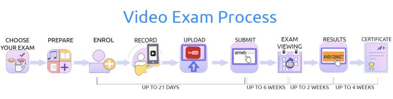 Graphic of video exam process